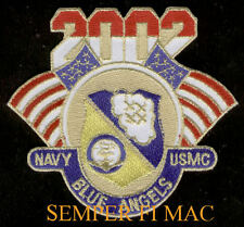 2002 BLUE ANGELS PATCH US NAVY MARINES F-18 HORNET C-130 HERCULES GIFT AIRSHOW