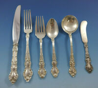 Meadow Rose by Wallace Sterling Silver Flatware Set Service 45 Pieces