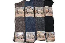 6 Pairs Of Men's Chunky Long Wool Socks, Thick Heavy Duty Work Boot Socks, 6-11