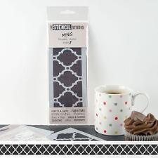 Stencil MiNiS - Moroccan Border - The Stencil Studio reusable craft stencils
