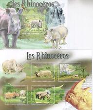 Zentralafrikanische Republik Central African Republic 2011 Rhinos 4W & Block