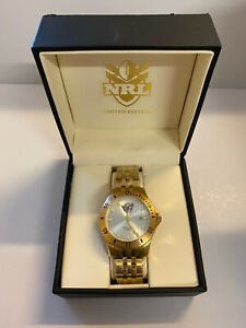85076 MANLY SEA EAGLES 2012 LIMITED EDITION GOLD MENS DRESS WATCH NRL