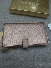 Michael Kors wristlet clutch bag , rose gold,  NEW , RRP £110