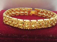 Men's Jewellery 14ct 9ct Yellow gold GF 10mm Cross Watch Band bracelet 20cm