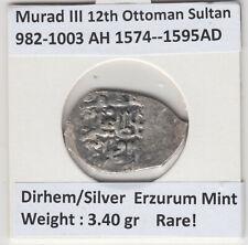 More details for ottoman empire dirhem erzurum mint murad iii 982-1003ah/1574-1595ad  rare coin!