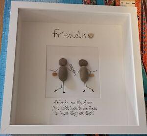 Pebble art picture FRIEND personalised  handmade