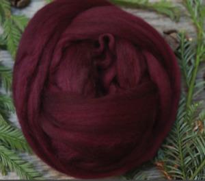 WINE - Merino wool roving, combed top, for spinning, nuno felting - 2 oz