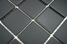 Mosaïque carreau céramique noir non vitré cuisine bain 14B-0303-R10_b | 1 plaque