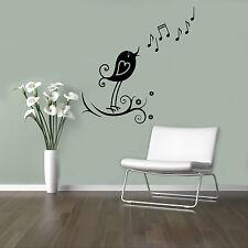 Musical Bird Vinyl Decal Music Vinyl Stickers Home Interior Window Sticker 18