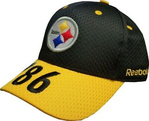 Pittsburgh Steelers Hines Ward 86 NFL Reebok Black/Gold Hat - Youth Fits Most