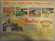 Pontiac Service Ad: You + Your Car Dealer = Longer Car Life! from 1942