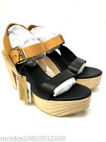 ZARA LEATHER WOODEN HEEL PLATFORM SANDALS SIZE UK8 EUR41 US10 RRP £79.99 NEW