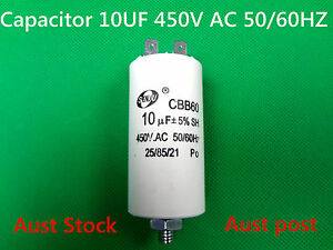 CBB60 Four Pin 10uF 450V 50/60Hz 25/85/21 Appliance Motor Run Capacitor (G37A)