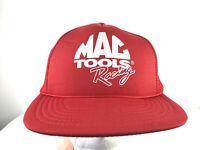Mac Tools Racing Hat Trucker Snapback Red White Foam Retro 80s 90s Mesh VTG H2