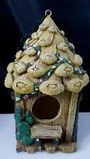 Hanging Whimsical Acorn Birdhouse Resin Brown Garden Decor Indoor Outdoor Chain