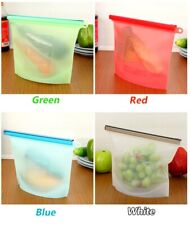 Silicone Food Storage Bag Reusable Kitchen Fresh Leak proof Cooking