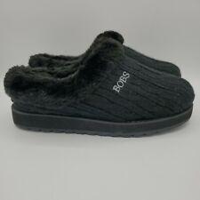 Women's Skechers sz 6.5 Bobs Keepsakes Black Furry Faux Fur Slippers