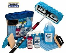 Waterless Wash Wax Mop Kit with Bug Scrubber / Mini Mop RV Aircraft Boat Truck