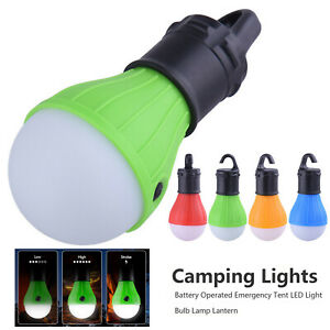 5X Camping Tent Lights Battery Operated Emergency LED Night Lamp Bulb Lantern