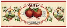 DAISEE Brand Vintage Paterson, New Jersey *AN ORIGINAL 1920's TIN CAN LABEL* G15