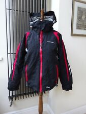 Women's Trespass Ski/Snowboarding Jacket Coat Small Black Red Ladies Size S