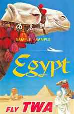 """TWA ------- Jets Airline 8.5"""" x 11""""Travel Poster [ - EGYPT -  ]  -"""