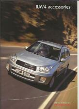 TOYOTA RAV4 ACCESSORIES SALES BROCHURE AUGUST 2000 FOR 2001 MODEL YEAR
