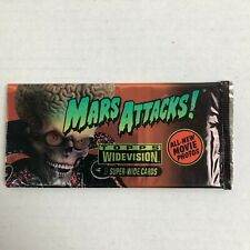 MARS ATTACKS Topps Widevision Super Wide Movie Photo Cards Opened Set of 9 1996