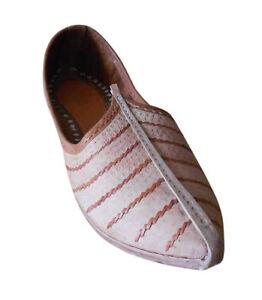Casual Men Shoes Handmade Leather Flip-Flops Indian Mojaries Khussa Flat  US 7-9