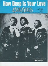 How Deep Is Your Love - Bee Gees - 1970's Sheet Music