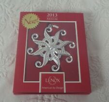 """2013 Lenox Snow Majesty Silver Plated Tree Ornament 3.5"""" Tall New"""