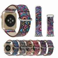 For Apple Watch series 2 1 Colorful Leather Band Strap & Adapter iWatch 38 42mm
