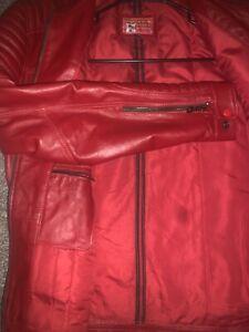 all saints leather jacket men medium