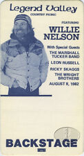WILLIE NELSON 1982 Backstage Pass Marshall Tucker Leon Russell RICKY SKAGGS
