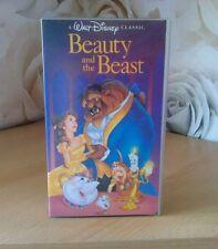 Disney Beauty and the Beast vidéo VHS RARE FBI Avertissement diamant noir classique
