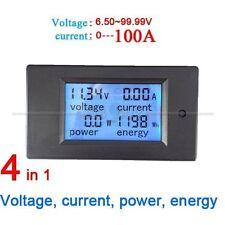 100a dc digital LCD Power panel metros monitor Power Energy Voltmeter ammeter