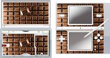 nintendo DS Lite - CHOCOLATE BAR - 4 Piece Decal Sticker Skin vinyl