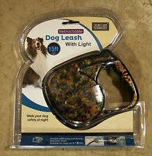FASHION PRINT 15 FT RETRACTABLE DOG LEASH W/ LED FLASHLIGHT (NEW) L@@K!!!