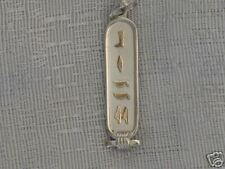 Egyptian Personalized Silver With 18K Gold Hieroglyphic 3-5 Letters Cartouche