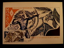 MONACO PREMIER JOUR FDC YVERT 1343  CROIX ROUGE , HERCULE    3,50+0,50F     1982