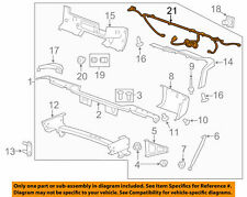 License lamp Harness Chevrolet Silverado 2500 11 - 14 GM OEM 15131815
