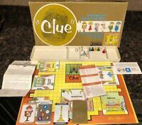 Vintage 1963 Original CLUE Detective Board Game Parker Brothers