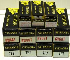Sylvania Vacuum Tube Lot 10 Tubes NIB 12AU7A ECC82 6W6GT  6V6GT 7F7