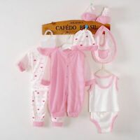 8Piece Spring Autumn Newborn Baby Tracksuit Cotton Kids Clothes Suit Unisex