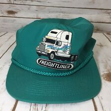 Vintage Freightliner Trucks Green Adjustable Snap Back Cap Trucker Hat USA A6