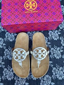 Tory Burch Miller Cloud Thong Sandal Spark Gold / Natural Size 5