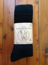 3 PAIRS EXTRA THICK BLACK FINE LUXURIOUS ALPACA WOOL WORK SOCK 6-11