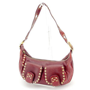 Michael Kors Shoulder bag Red Gold Woman Authentic Used D1643