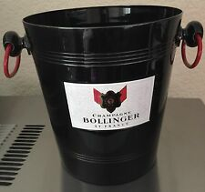 BOLLINGER CHAMPAGNE BUCKET COOLER BLACK & RED  VINTAGE CONDITION