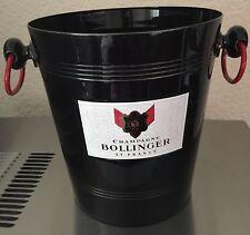 BOLLINGER CHAMPAGNE BUCKET COOLER BLACK & RED  VINTAGE CONDITION